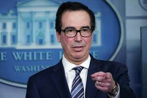 (FILES) In this file photo taken on April 2, 2020, US Treasury Secretary Steven Mnuchin speaks during the daily briefing on the novel coronavirus, COVID-19, in the Brady Briefing Room at the White House in Washington, DC. - Mnuchin will ask Congress for an additional $200 billion to reinforce a new loan program for small businesses that has been overwhelmed with applications, according to a report on April 7, 2020. (Photo by MANDEL NGAN / AFP) (Photo by MANDEL NGAN/AFP via Getty Images)