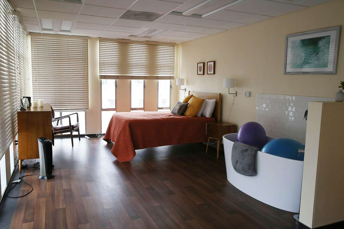 The Mary Ellen Pleasant birthing suite is seen at the San Francisco Birth Center on Monday, April 6, 2020 in San Francisco, CA.
