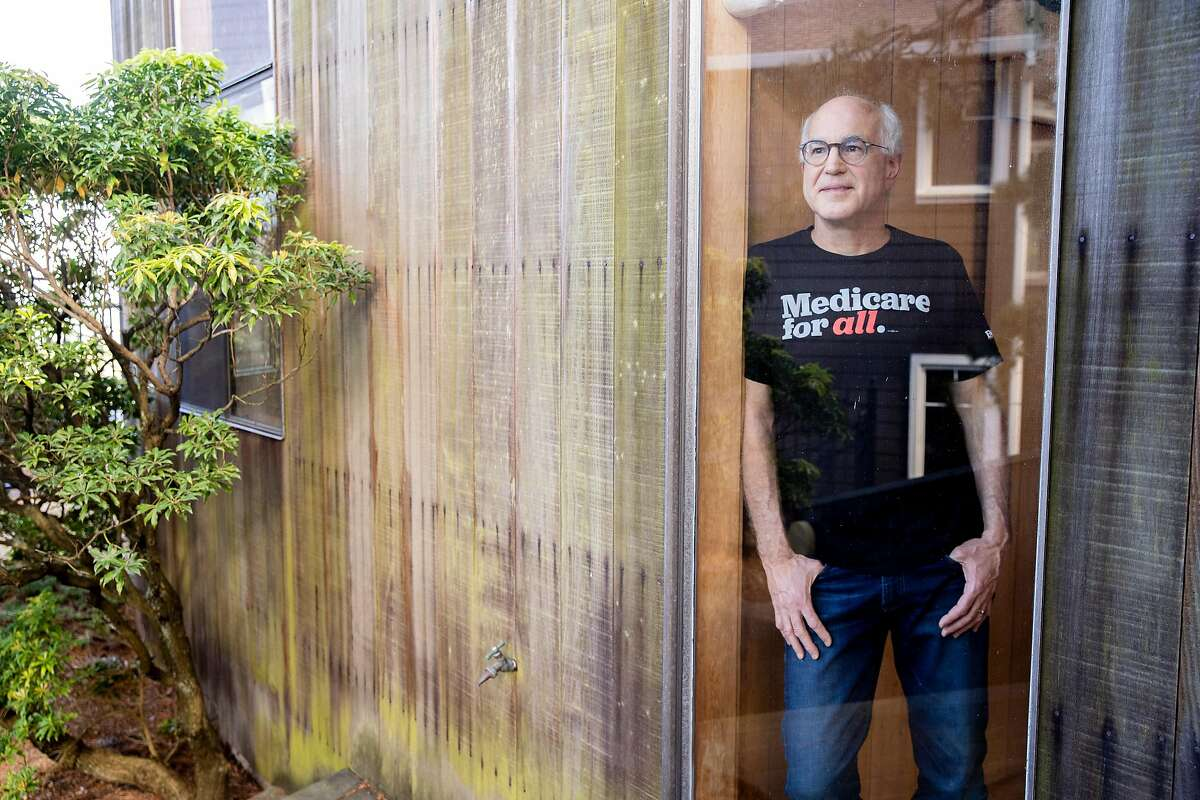 A portrait of Michael Lighty at his home on Friday, April 10, 2020, in Oakland, Calif. Lighty has organized, advocated and developed policy for Medicare for All nationally. He is the health care constituency director for the 2020 presidential campaign of Bernie Sanders.
