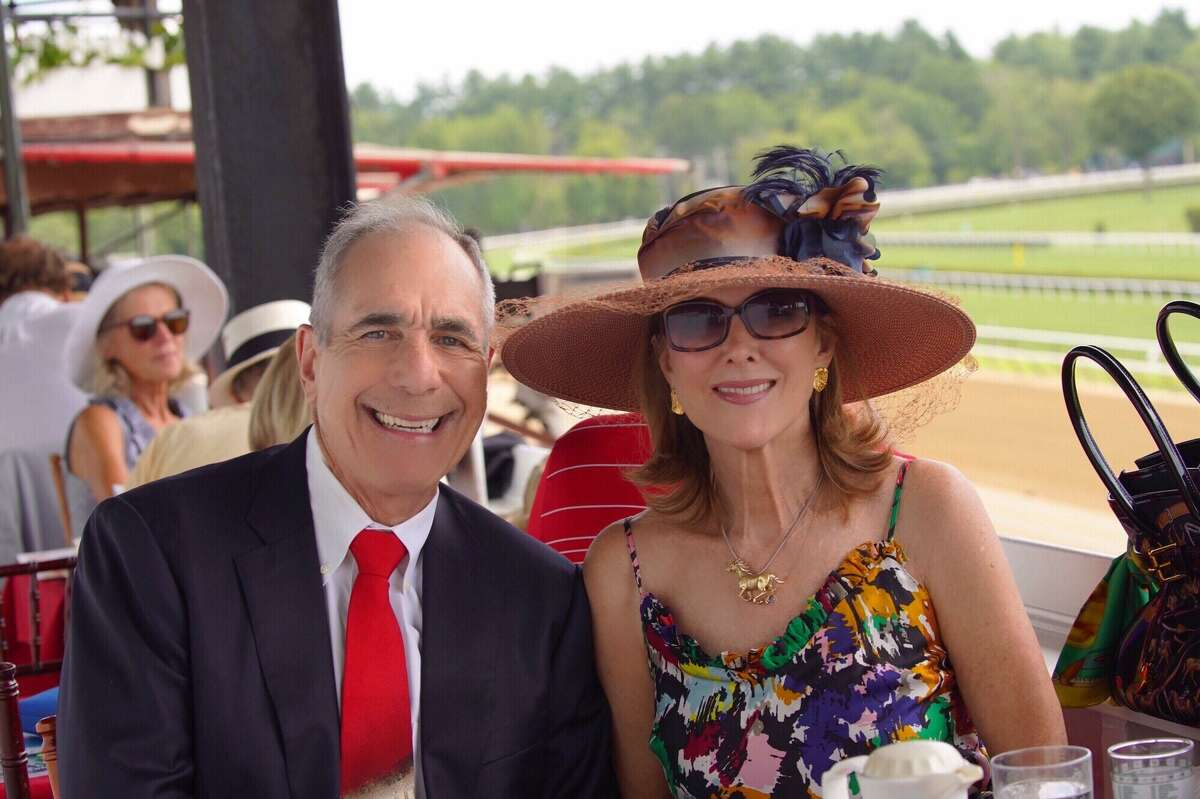 Roger Sofer and his wife Linden Sofer at Saratoga where he fell in love with horses and horse racing.