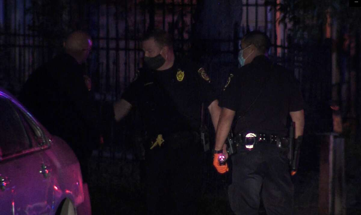 Officials investigate a shooting that ruptured a residence's gas line on the Northeast Side overnight April 11, 2020.
