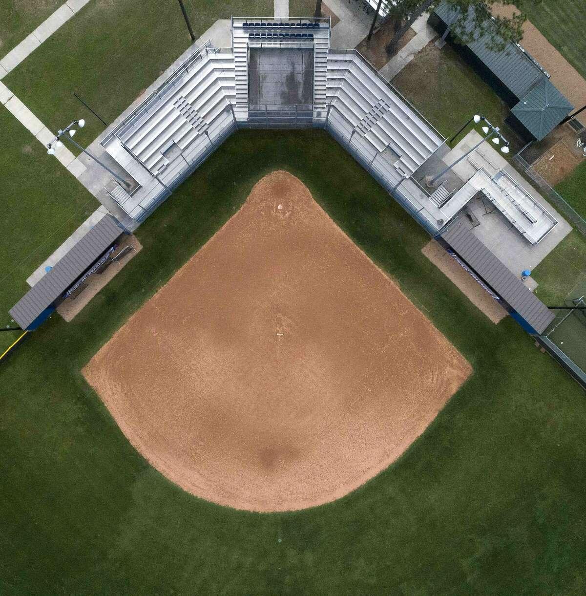 The softball field at Oak Ridge High School are seen, Wedneday, April 8, 2020, in Oak Ridge.