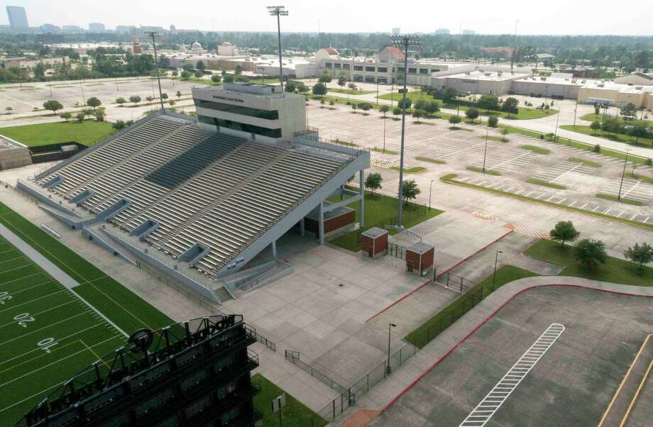 Conroe ISD's Woodforest Bank Stadium in Shenandoah will be turned into a vaccination site Friday and Saturday for residents of Montgomery County, in partnership with the Memorial Hermann Health System. Photo: Jason Fochtman, Houston Chronicle / Staff Photographer / 2020 © Houston Chronicle