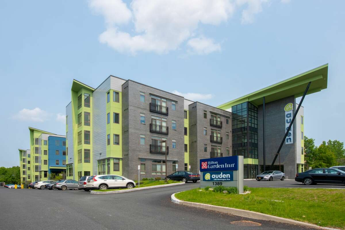 Photo of the Auden student apartments in Albany. (Provided by DMG Investments)