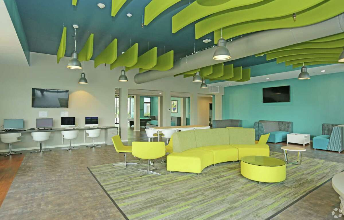 Lobby inside the Auden student apartments in Albany. (Provided by DMG Investments)