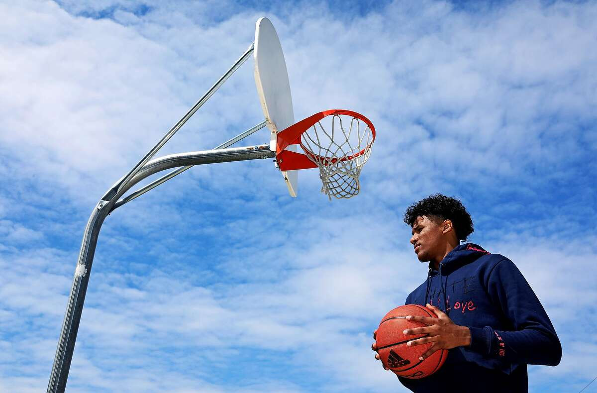 High School basketball star Jalen Green, 18, poses for a portrait on Friday, March 27, 2020, in Napa, Calif. The 6'6