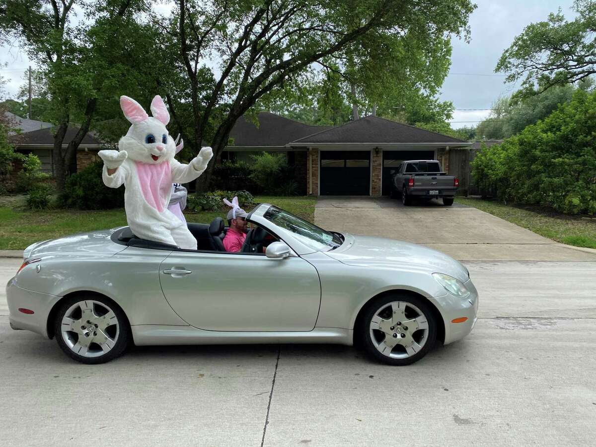 A pop-up Easter parade took to the streets of Spring Valley Village on Saturday, April 11, 2020.