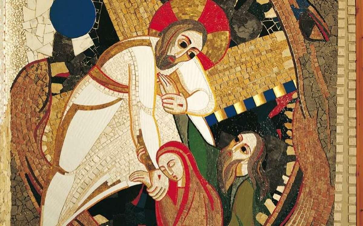 Descenso de los infiernos (detalle) de Marko Rupnik (sacristía de la Catedral de Almudena)