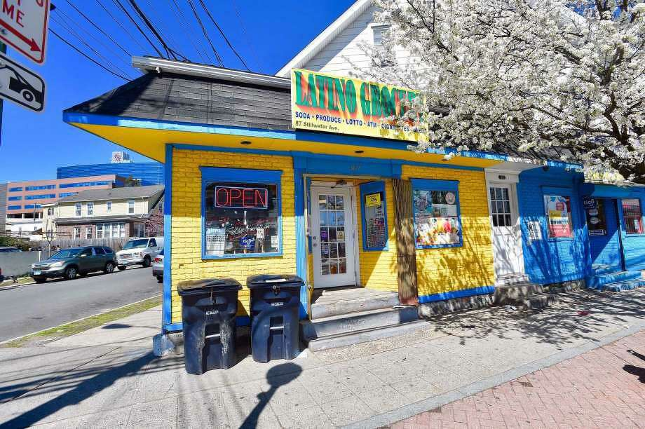 Latino Grocery store on Stillwater Avenue was the location of an armed robbery on April 2, 2020. Photo: Matthew Brown / Hearst Connecticut Media