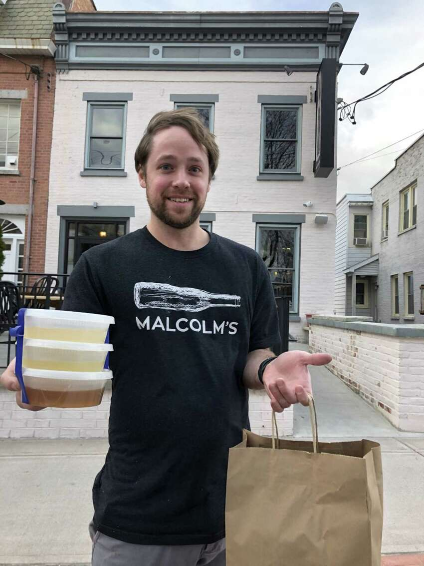 Nate Germain, owner of the Schenectady restaurant Malcolm's.