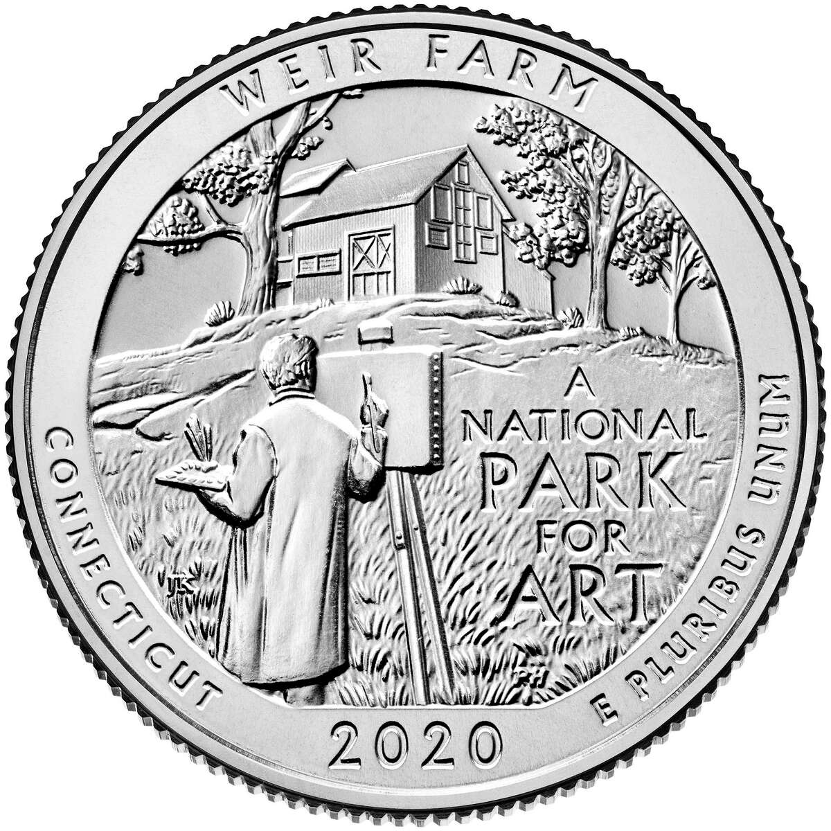 The U.S. Mint has released a new quarter in its America the Beautiful series honoring Weir Farm National Historic Site.