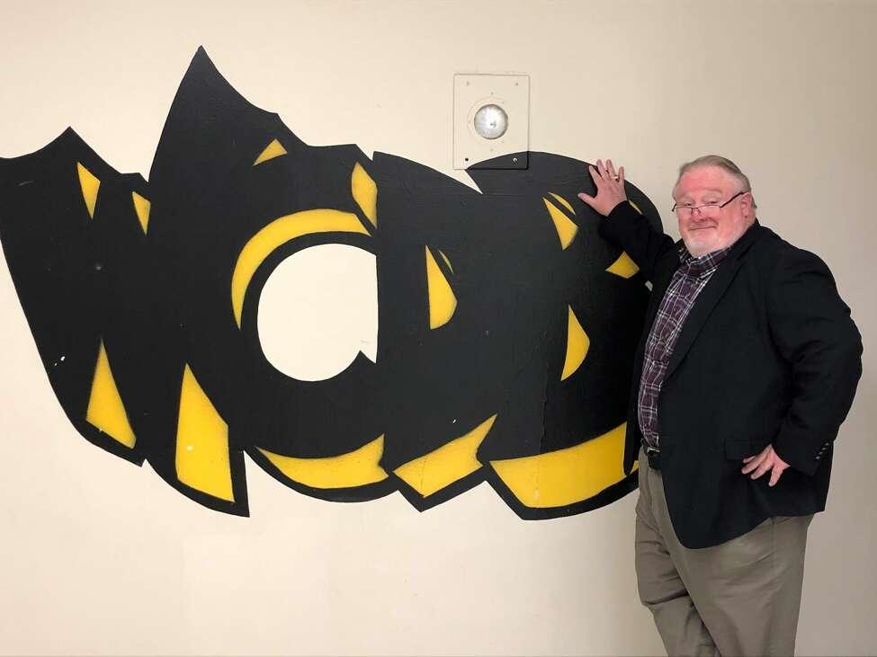 Bill McCann outside WCDB studios at the University at Albany Saturday, April 11, 2020. (Gary Hahn Times Union)