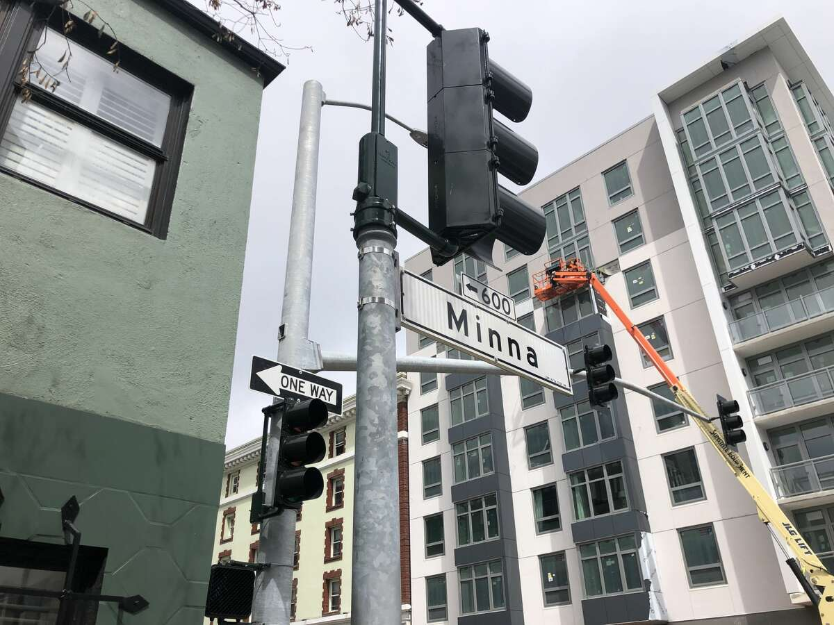 Minna Street in SoMa was long thought to have been named after a young San Francisco streetwalker of the 1870s, Minna Rae Simpson, by a politician who was one of her clients. However