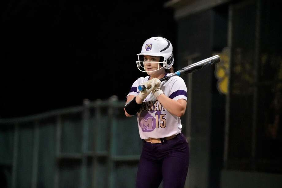 Montgomery senior outfielder Faith Cahoe has been involved in the sport since she was a four-year-old. Photo: Submitted