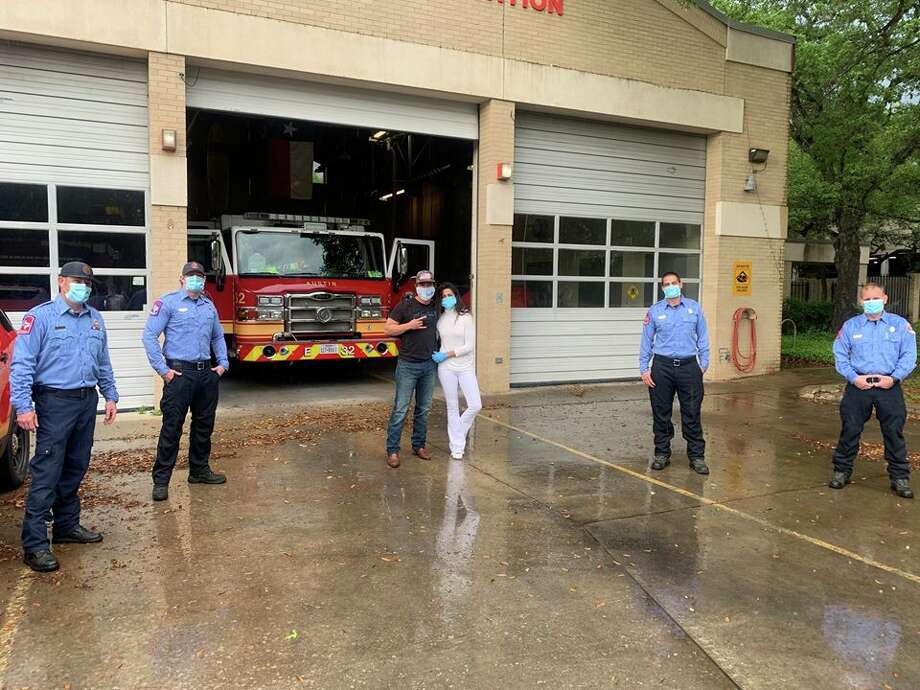 Academy Award-winning actor Matthew McConaughey and his wife Camila showed their support for their city during the coronavirus pandemic by donating boxes of face masks to first responders in Austin on Friday, according to a Facebook post from the Austin Fire Department. Photo: Facebook: Austin Fire Department
