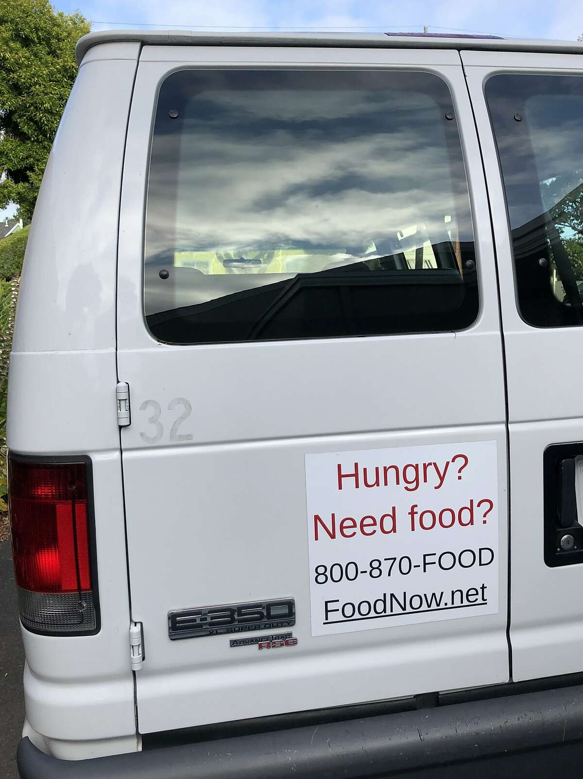 This white van was stolen early Thursday from the All Saints Episcopal Church's food pantry and had yet to be spotted or recovered as of Monday morning, police and church officials said.