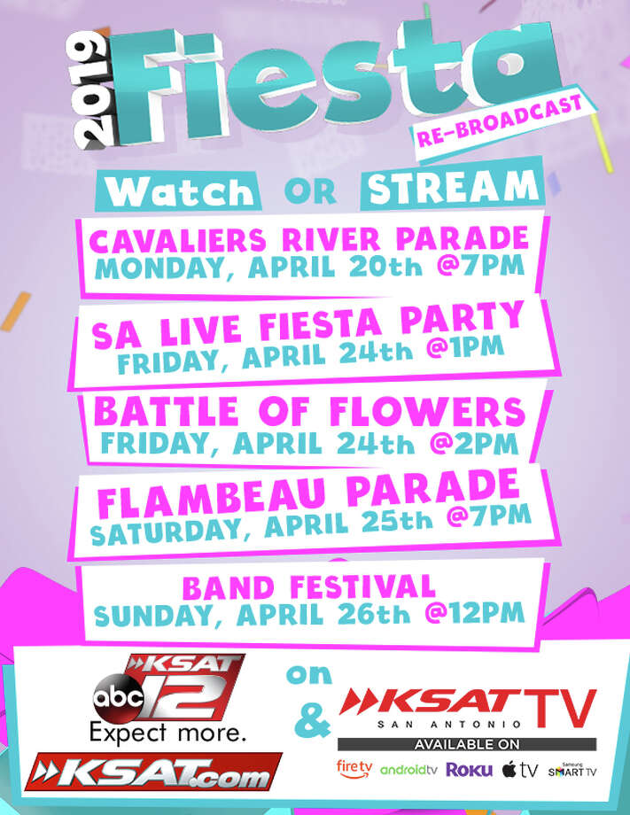 KSAT will re-broadcast parades from Fiesta 2019 to spread some Fiesta cheer into homes of San Antonians. Photo: Courtesy, David Cuccio