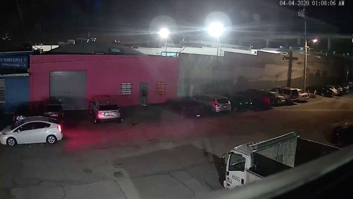 A surveillance video shared by the San Francisco City Attorney's Office showed over 150 people entered an illegal club in the Bayview neighborhood in early April despite the city's shelter-in-place order.