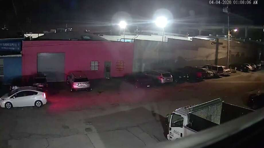 A surveillance video shared by the San Francisco City Attorney's Office showed over 150 people entered an illegal club in the Bayview neighborhood in early April despite the city's shelter-in-place order. Photo: San Francisco City Attorney's Office