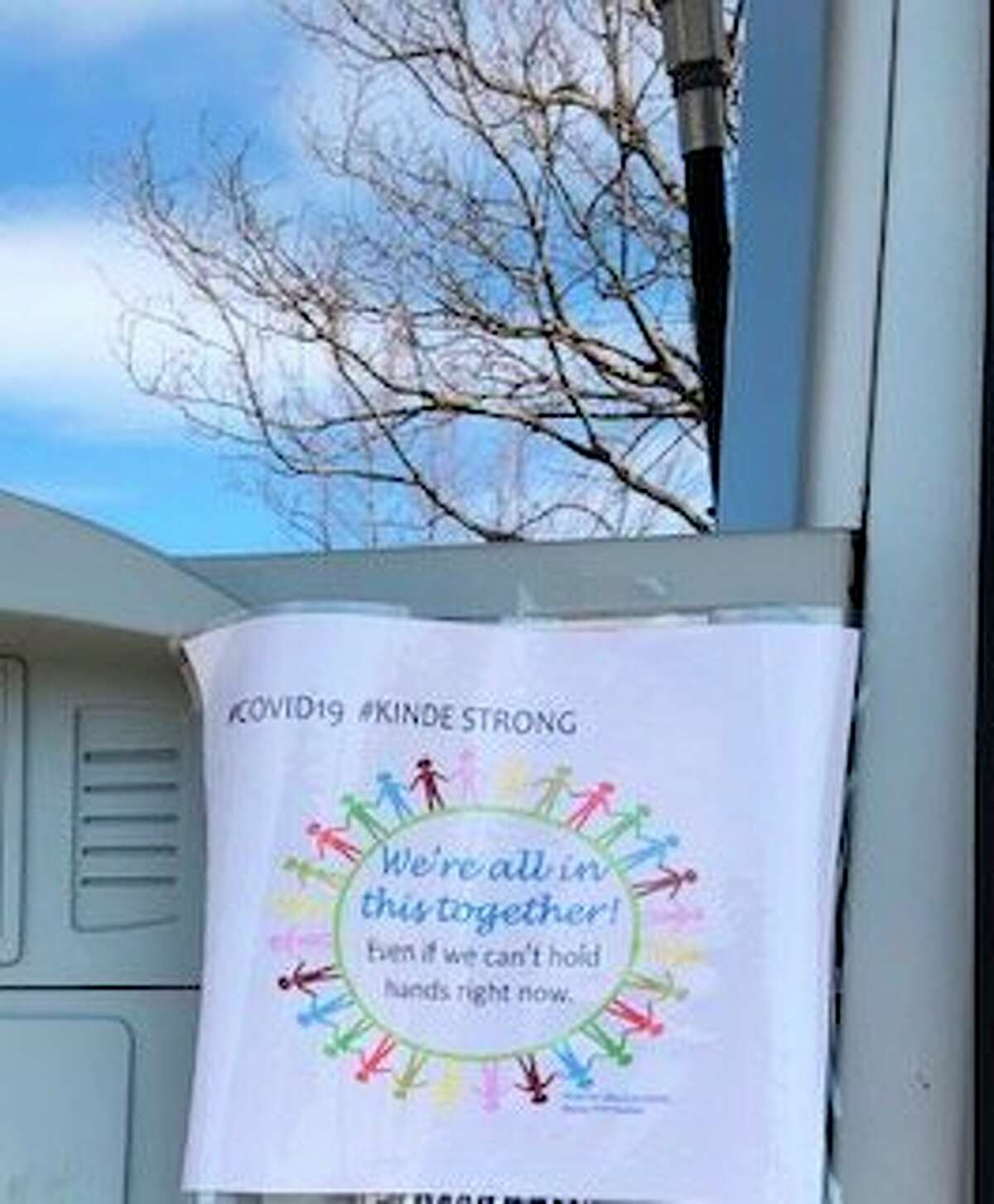 The Kinde One-Stop Shop decorated for Easter with messages of positivity. (Courtesy Photo)
