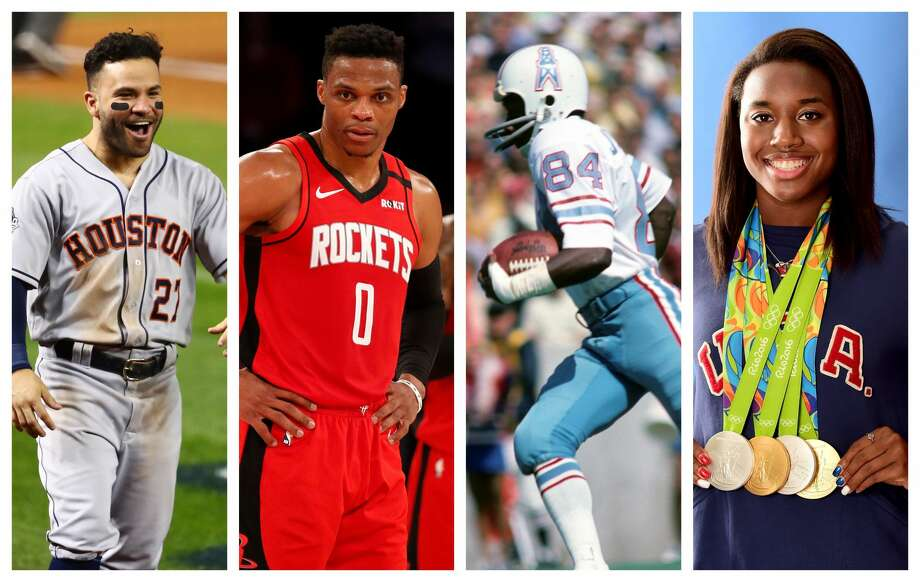 """PHOTOS: Choose your Houston Sports Quarantine House Jose's HouseJose Altuve, AstrosRussell Westbrook, RocketsBilly """"White Shoes"""" Johnson, OilersSimone Manuel, swimmer Browse through the photos above to see which Quarantine House made up of Houston sports legends and fan favorites you'd choose ... Photo: Getty Images"""