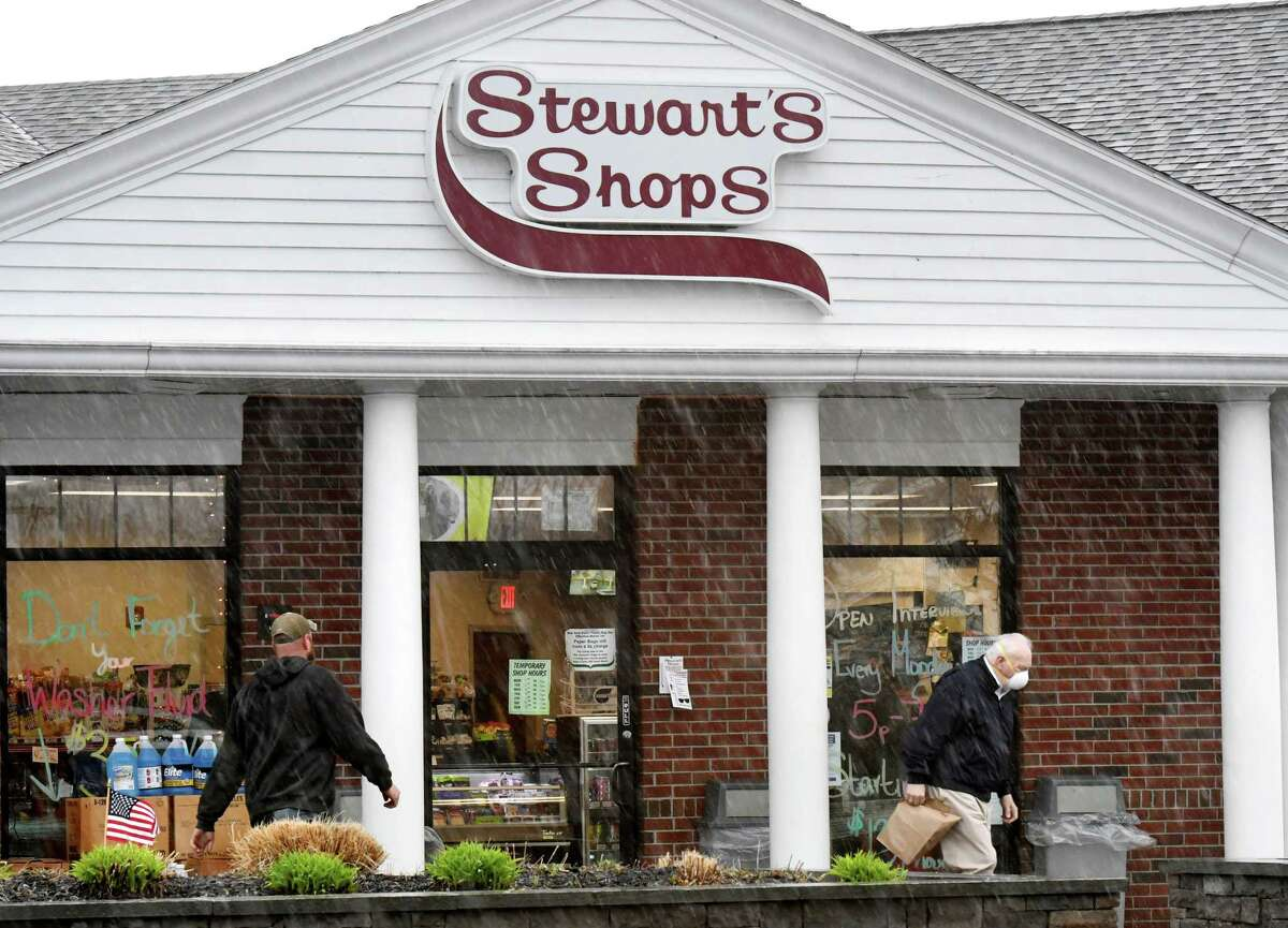 Customers shop at the State Farm Road Stewart's Shops convenience store on Monday, April 13, 2020, in Guilderland, N.Y. Stewart's Shops recently added $17.5 million to its employee stock ownership plan. (Will Waldron/Times Union)