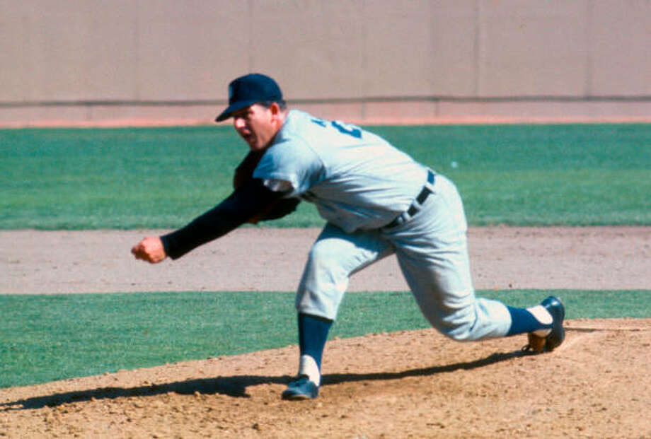 Detroit Tigers' Mickey Lolich delivers a pitch during Game 7 of the 1968 World Series. Photo: Getty Images / 1968 Focus on Sport