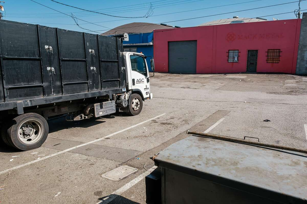 A general view of a former metal shop where an illegal nightclub was shut down by the city attorney and police on Saturday in San Francisco, Calif. on Monday April 13, 2020.