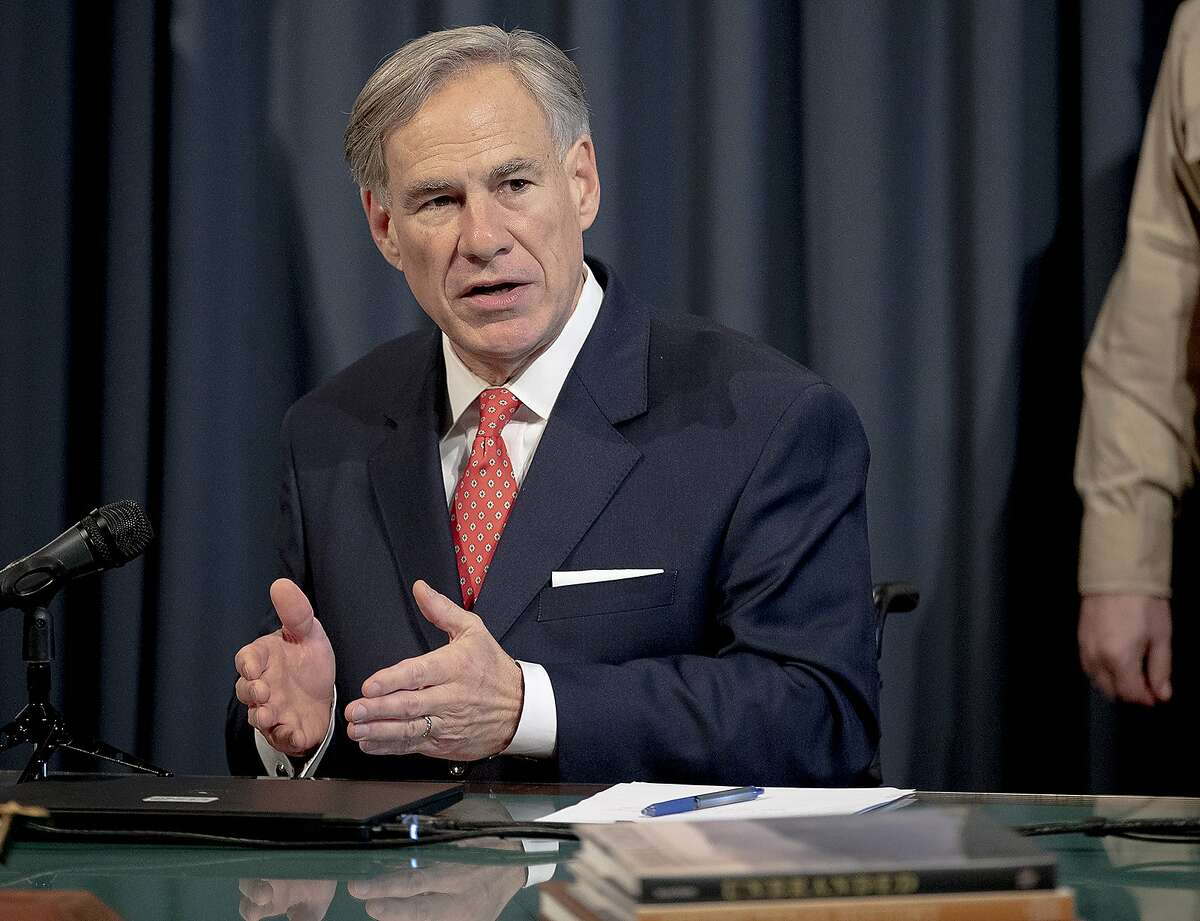 Texas Gov. Greg Abbott speaks about the state's response to COVID-19 during a news conference on Monday, April 13.