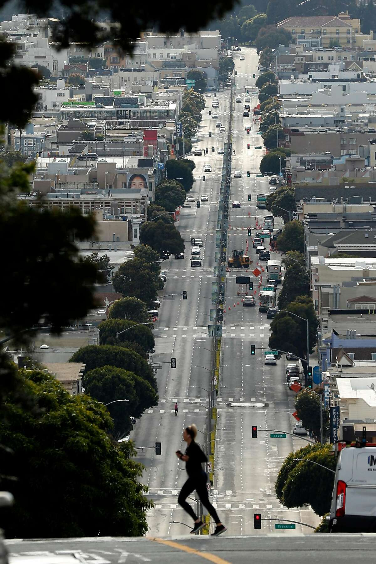 Lombard Street in San Francisco, Calif., on Thursday, April 9, 2020.