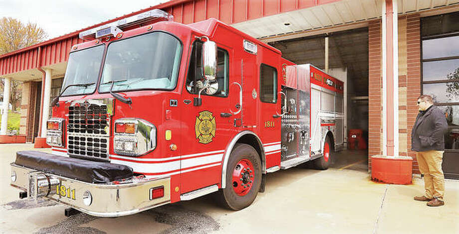 After 10 years and several used fire trucks, the Alton Fire Department on Monday took possession of its first brand new fire truck in a decade at the Don Twichell Memorial Fire Station in Alton. The truck, custom built for Alton, is a 2019 Spartan cab and chasis built by Precision Fire Apparatus in Camdenton, Missouri. A second new truck, the same as this one, is scheduled to arrive in Alton in about a month. Alton hasn't purchased a new fire truck since 2010.