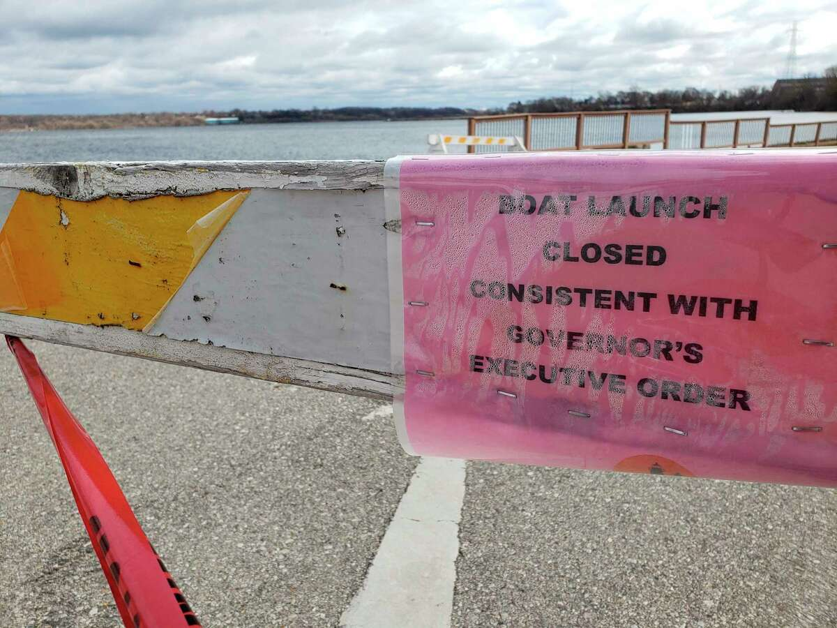Motoirized watercraft usage is not permitted during the stay home, stay safe executive orders. The city of Manistee closed its boat launches Saturday in an effort to comply with the executive order clarifications.(Arielle Breen/News Advocate)
