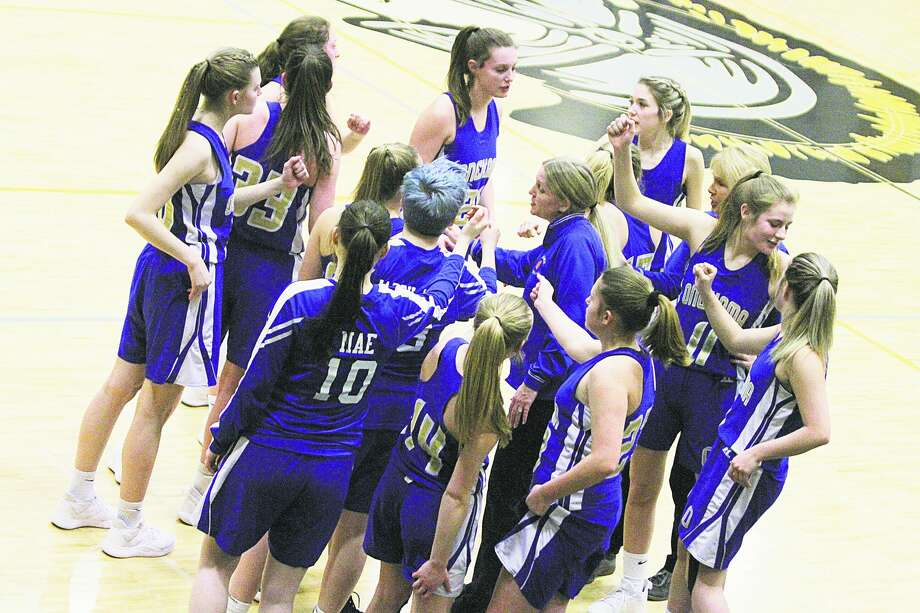 The Onekama girls basketball team's cumulative GPA of 3.938 was the second highest in Division 4, sixth highest in the state and earned the Portagers academic all-state honors. Photo: News Advocate File Photo