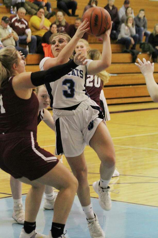 Brethren senior Megan Cordes was named second team all-West Michigan D League this season. (News Advocate file photo)