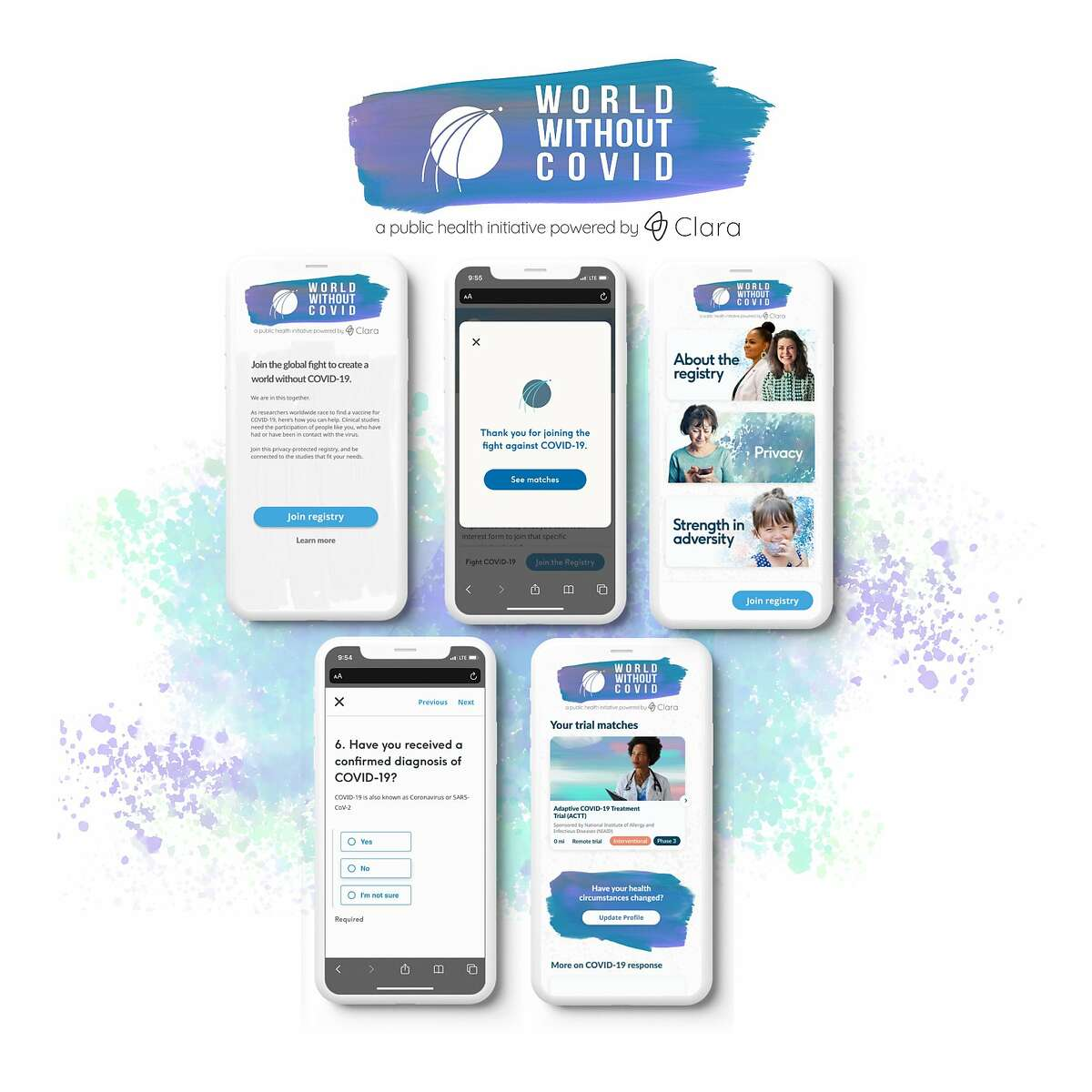 San Francisco startup Clara Health is helping to launch World Withoht Covid, a new website to connect people with coronavirus clinical trials.