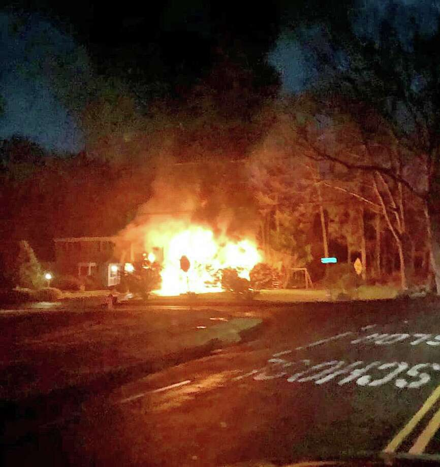 At 7:58 p.m., the Long Hill Fire Department.with the assistance of Trumbull Center and Nichols Fire departments responded to Gatehouse Road for a reported structure fire. Photo: Long Hill Volunteer Fire Co. Photo