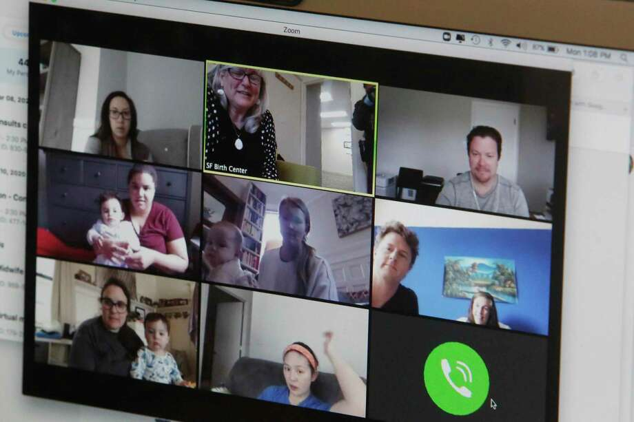A new parents group cin San Francisco connects over Zoom. The platform, and others, has opened the door for online coursework and overcome distance to build meaningful connections. Photo: Lea Suzuki /The Chronicle / ONLINE_YES