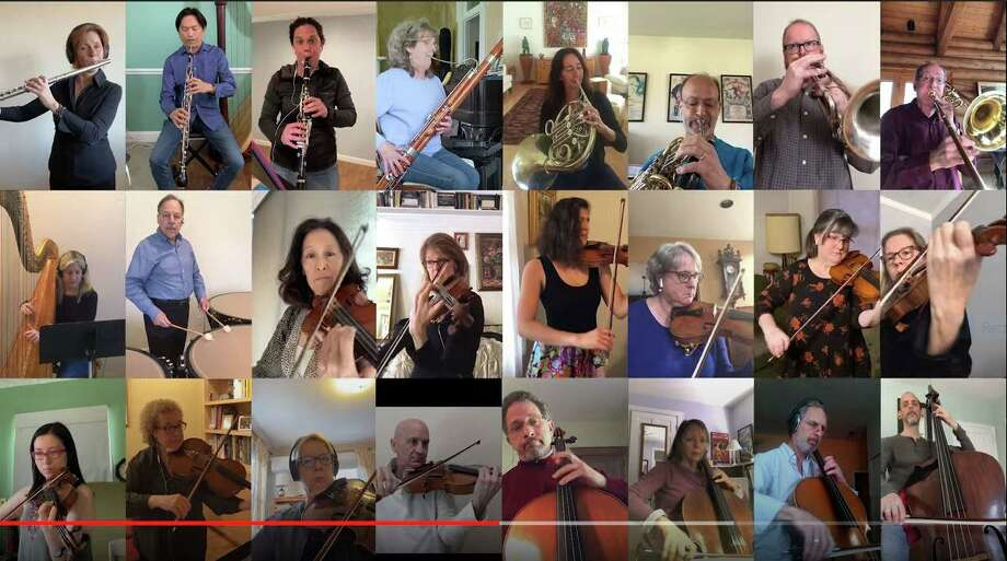 The Stamford Symphony plays 'Amazing Grace' in a new video dedicated to healthcare workers across Fairfield County. Photo: Stamford Symphony /