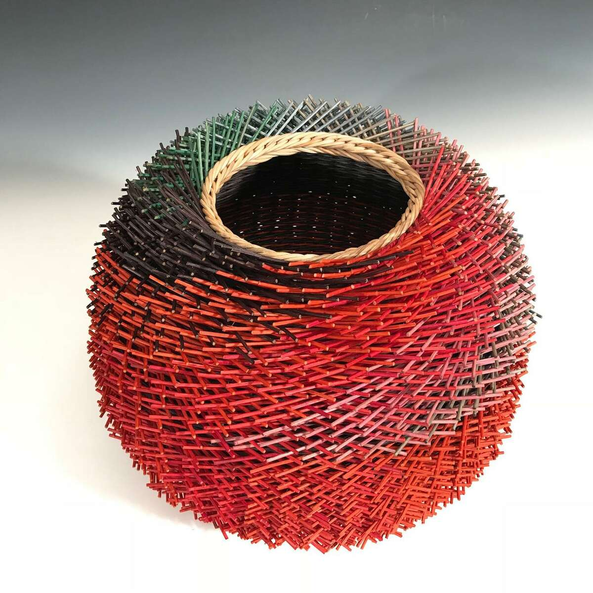"""Ridgefield's Kari Lonning will have her piece """"Round and Hairy"""" displayed in the """"Fiber 2020"""" show."""