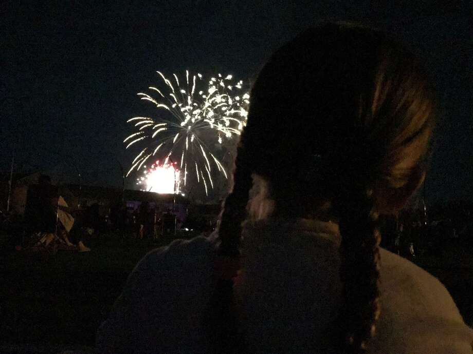 "Darien bicentennial adult winner —""July 4, DHS"" by Erika Teresko of Darien Photo: DAC"