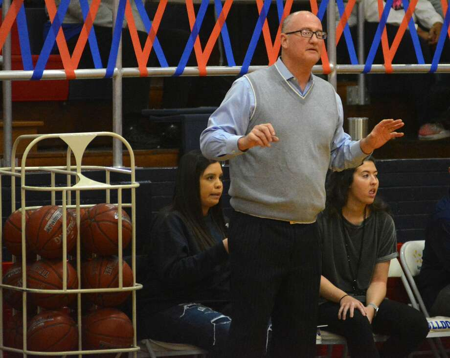 Danny Wrenn is calling it a career after leading the Plainview Lady Bulldog girls basketball team for the past 33 years. Photo: Nathan Giese/Planview Herald