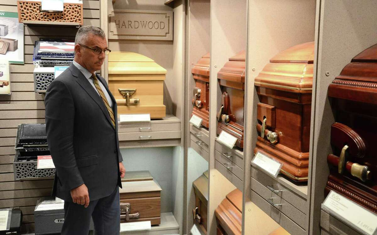 Nick Cognetta, owner of Nicholas F. Cognetta Funeral Home and Crematory in Stamford.