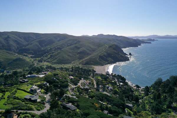 An aerial drone view of Muir Beach, which is closed because of the Coronavirus (COVID-19), on April 01, 2020 in Muir Beach, California. Officials in seven San Francisco Bay Area counties have extended the shelter in place order until May 1 in an attempt to slow the spread of the virus.