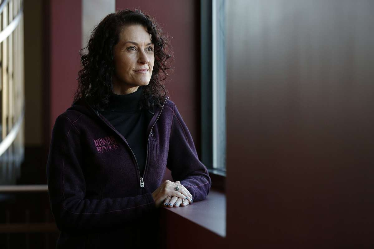 A portrait of Natalie Cilurzo at the Russian River Brewing Company, Wednesday, Feb. 5, 2020, in Windsor, Calif. Cilurzo is the co-owner of the company.