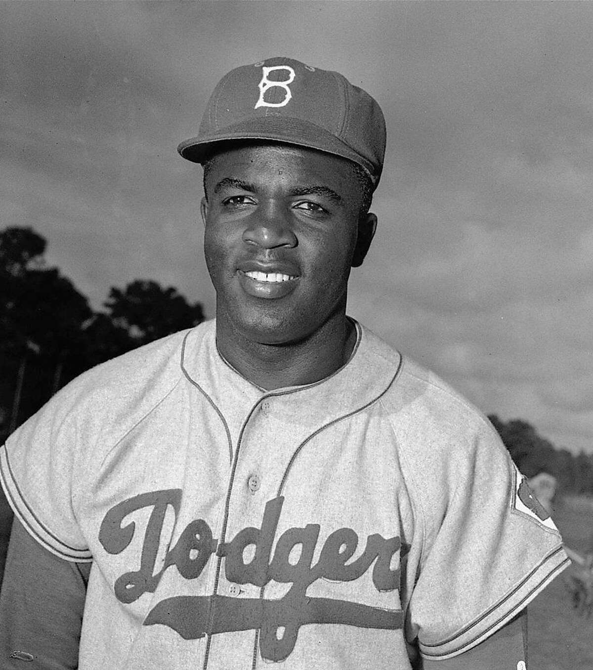 FILE -- Brooklyn Dodgers' infielder Jackie Robinson poses at spring training in Vero Beach, Fla., February 28, 1952. A series of initiatives will be announced in New York Wednesday Feb. 26, 1997, to celebrate the 50th anniversary of Jackie Robinson's entry into the major leagues and the barrier-breaking spirit that guided Robinson throughout he life as an athlete, businessman and social activist. (AP Photo/File)