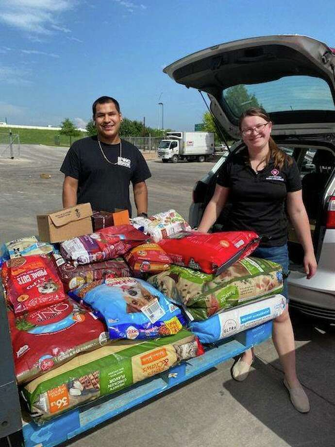 On Monday, the city's Animal Care Services donated 1,000 pounds of pet food and rice to the San Antonio Food Bank. Photo: ACS