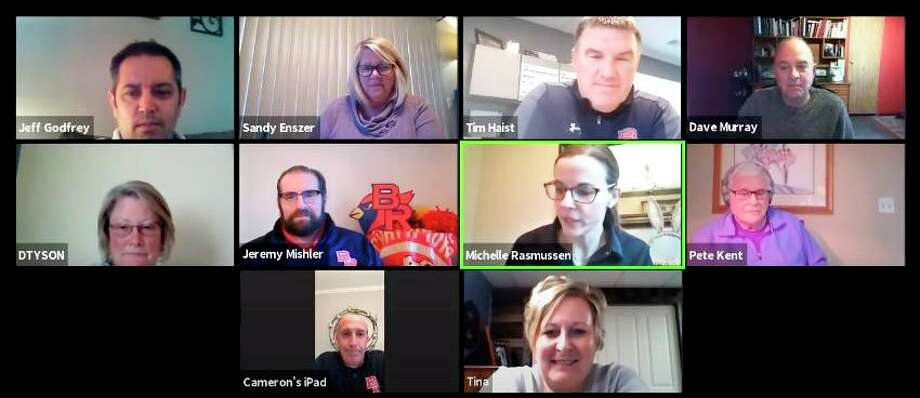 The Big Rapids Public Schools Board of Education met Monday through Zoom. It was the board's first virtual meeting due to the coronavirus pandemic. (Courtesy photo)
