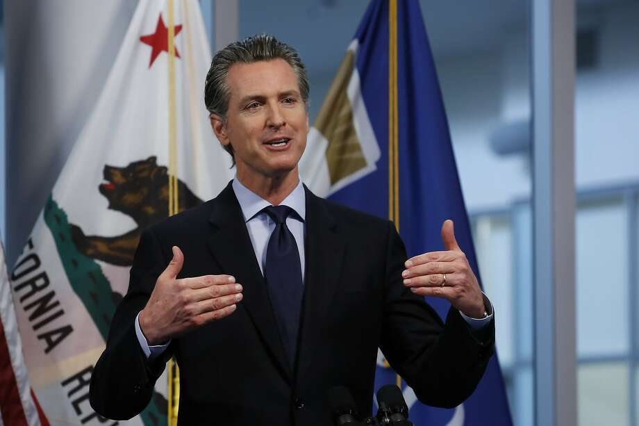 FILE — In this April 9, 2020 file photo Gov. Gavin Newsom discusses the state's response to the coronavirus during his daily news briefing at the Governor's Office of Emergency Services in Rancho Cordova, Calif. Newsom said Monday, April 13, 2020 that he will announce a detailed plan on Tuesday for how the state will eventually lift coronavirus restrictions. (AP Photo/Rich Pedroncelli, File ) Photo: Rich Pedroncelli, Associated Press