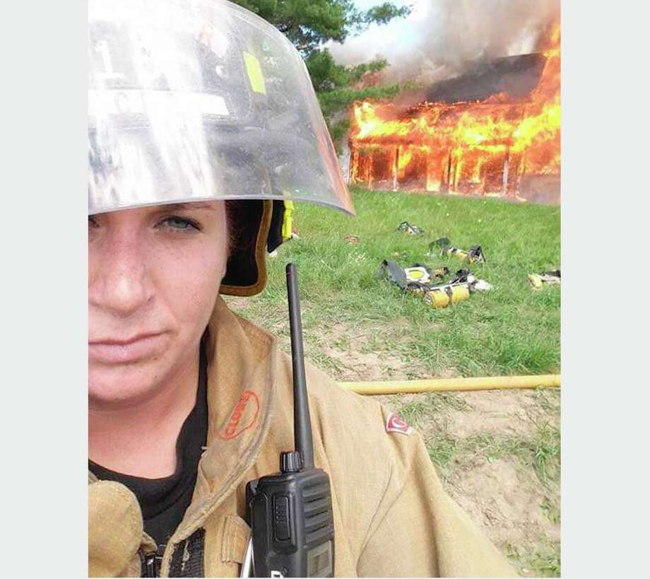 Trisha Johnson is a firefighter with the Reed City Fire Department. She has been working there for the past five years. Photo: Courtesy Photo