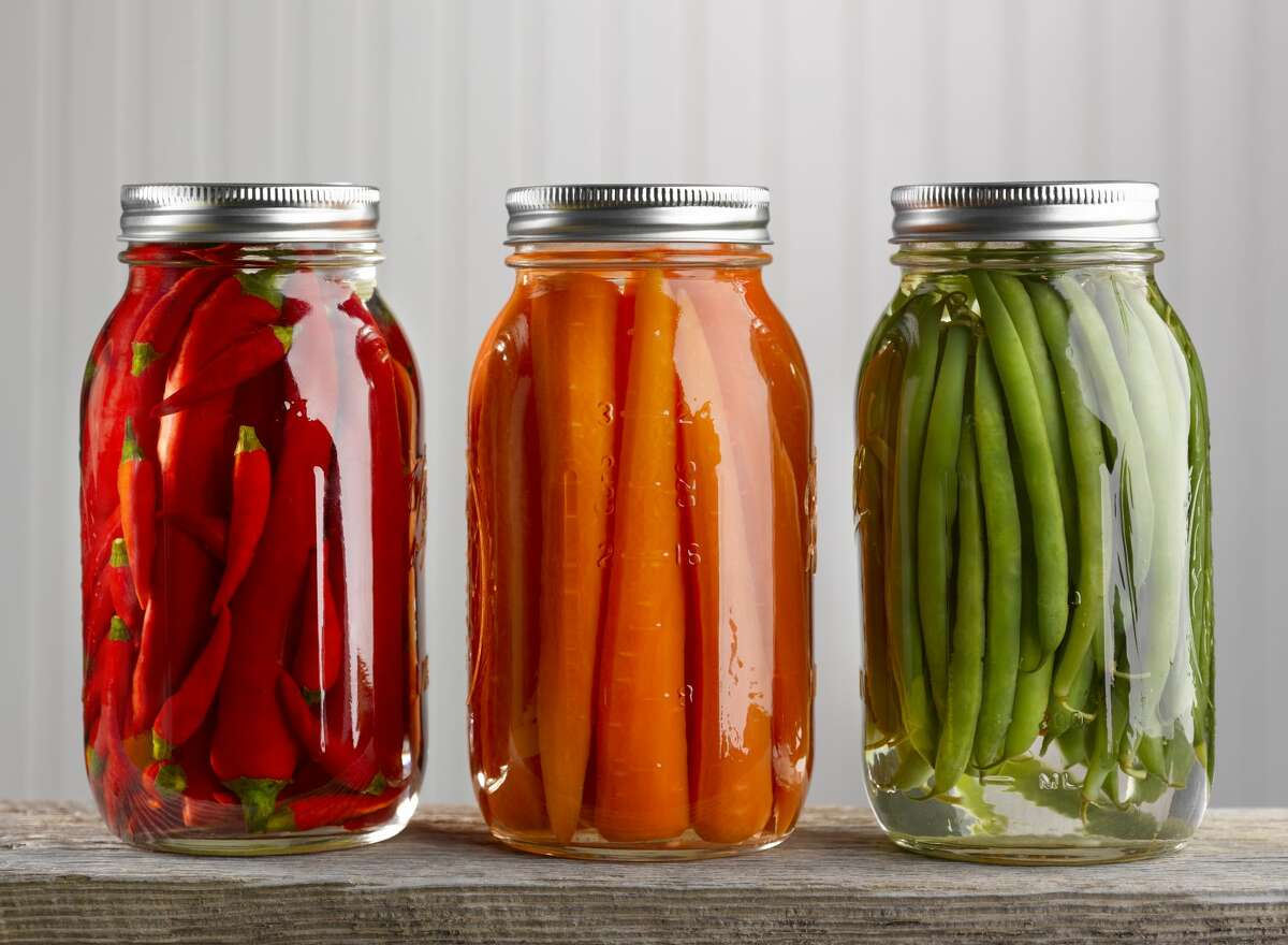Get pickling Veggies about to go bad? Good news: you can pickle almost anything. Just combine boiling water, vinegar, sugar, salt, and spices together, then cover your produce with that liquid and wait a few hours, according to Epicurious. Your pickled vegetables will last as long as 6 months in a jar in the fridge.